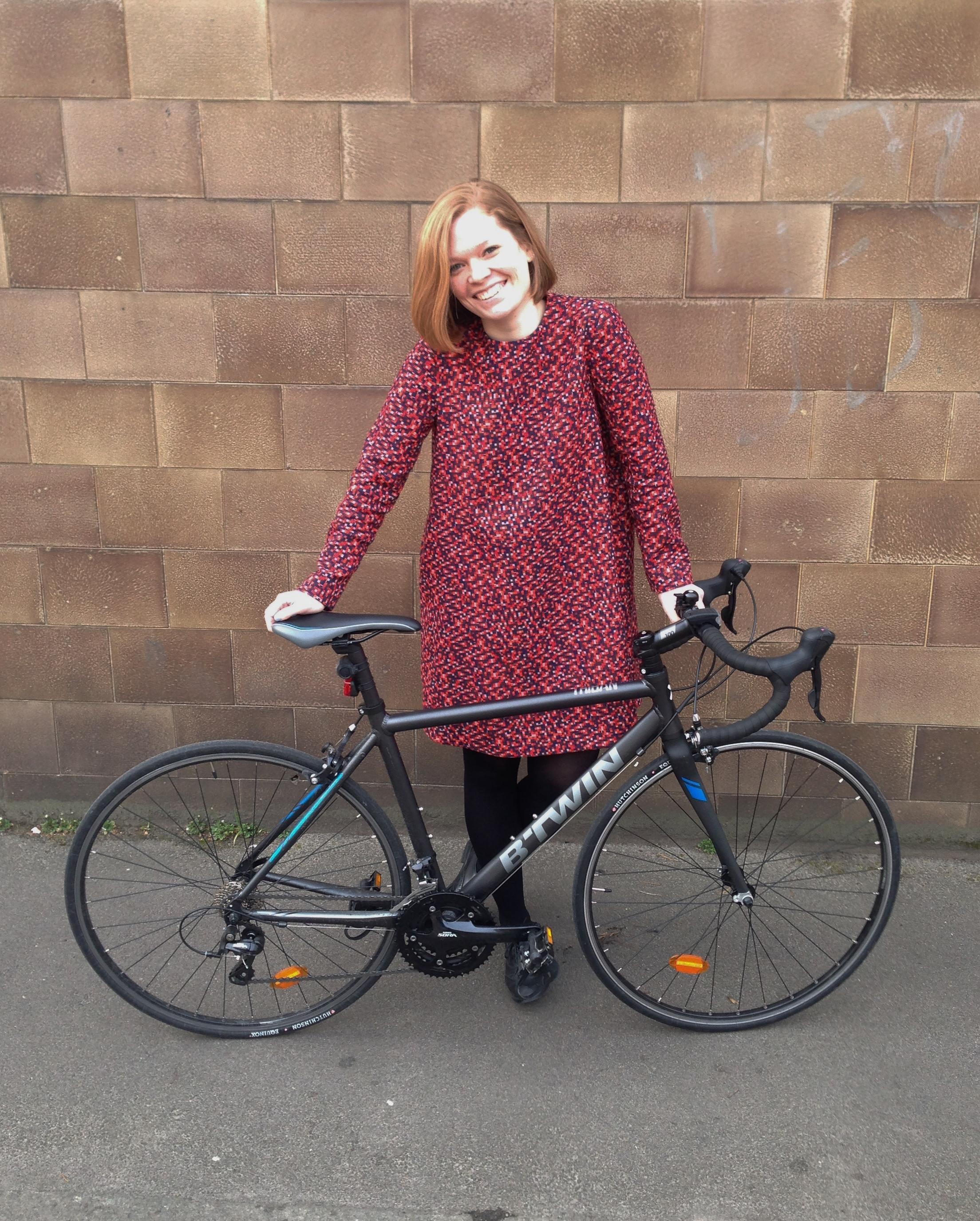 Ellie with her bike