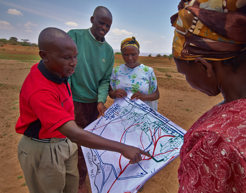 The project committee have started to plan the construction of the new system of sand dams.