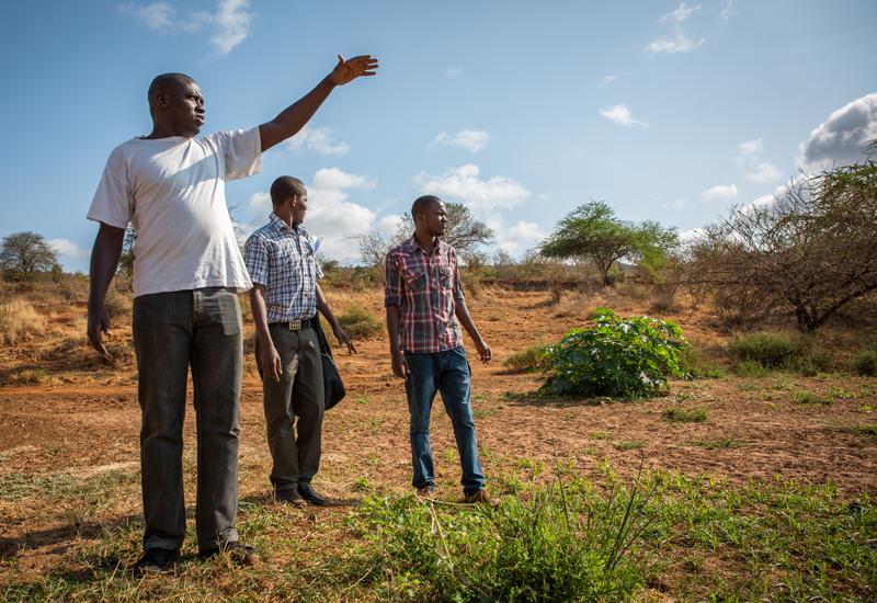 Project members at the Musosya dam