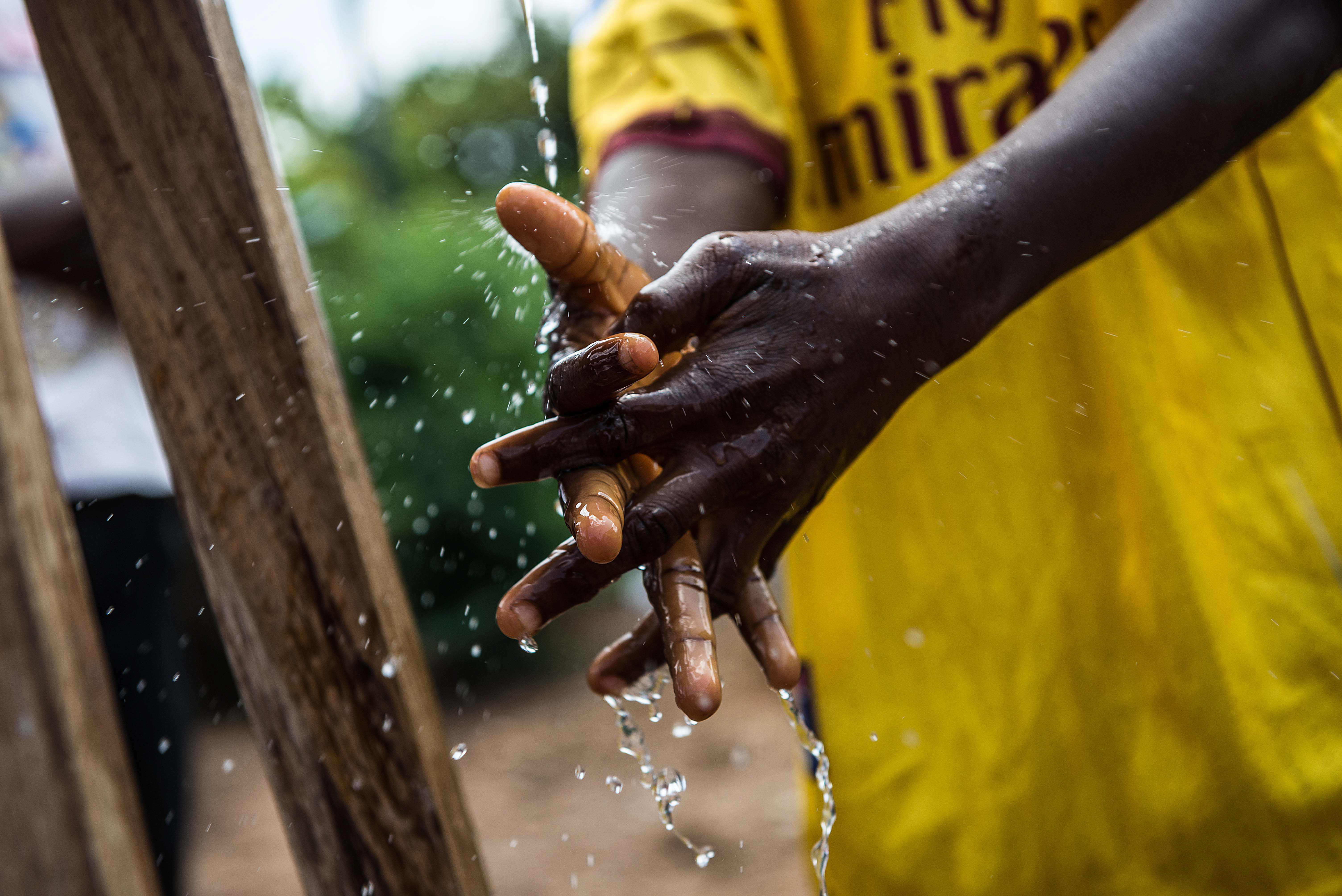 To ensure there are no spikes in new cases of Ebola, hygiene and prevention projects remain a priority.