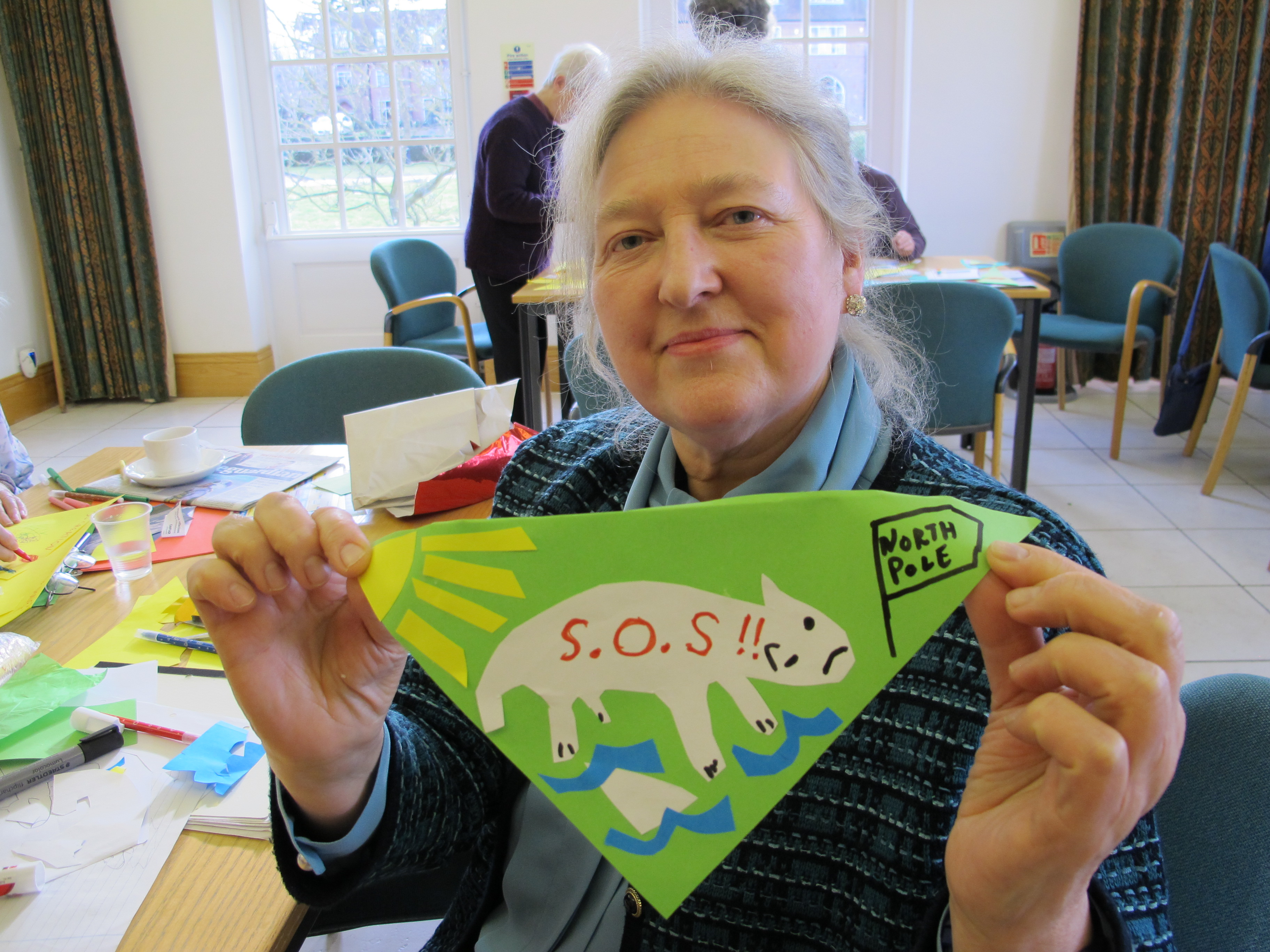 CAFOD supporters make bunting for climate campaign