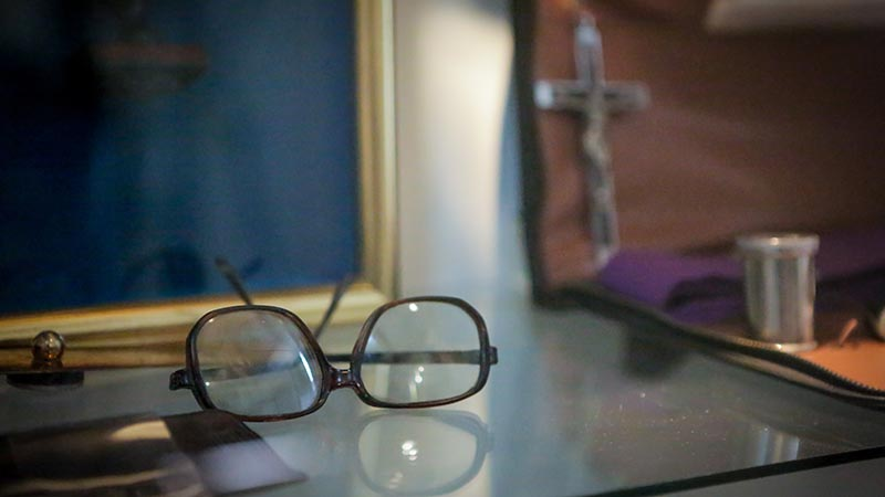 Romero's glasses