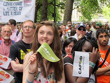 CAFOD supporters of all ages at the Climate Coalition lobby