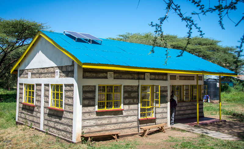 A school with solar powered lighting in Isiolo, Kenya.