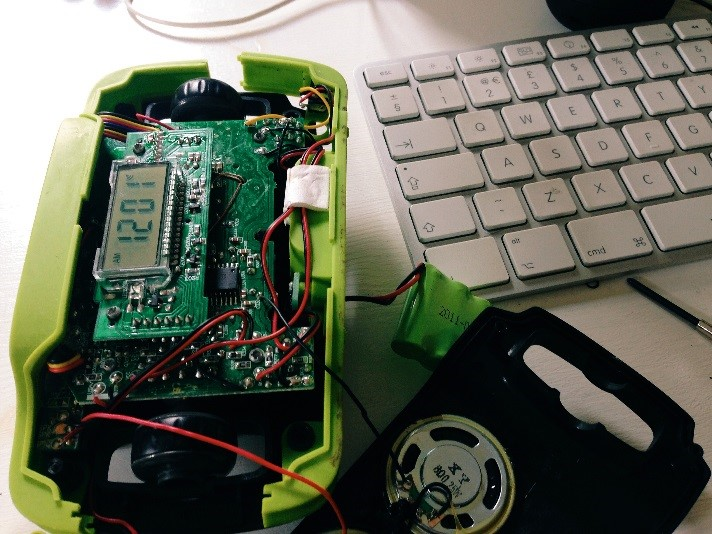 Ivan replaced the rechargeable battery in his solar and wind-up radio by watching a YouTube tutorial.