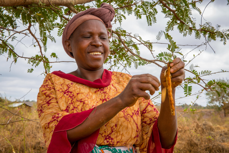 Stella in her farm in Kitui - CAFOD