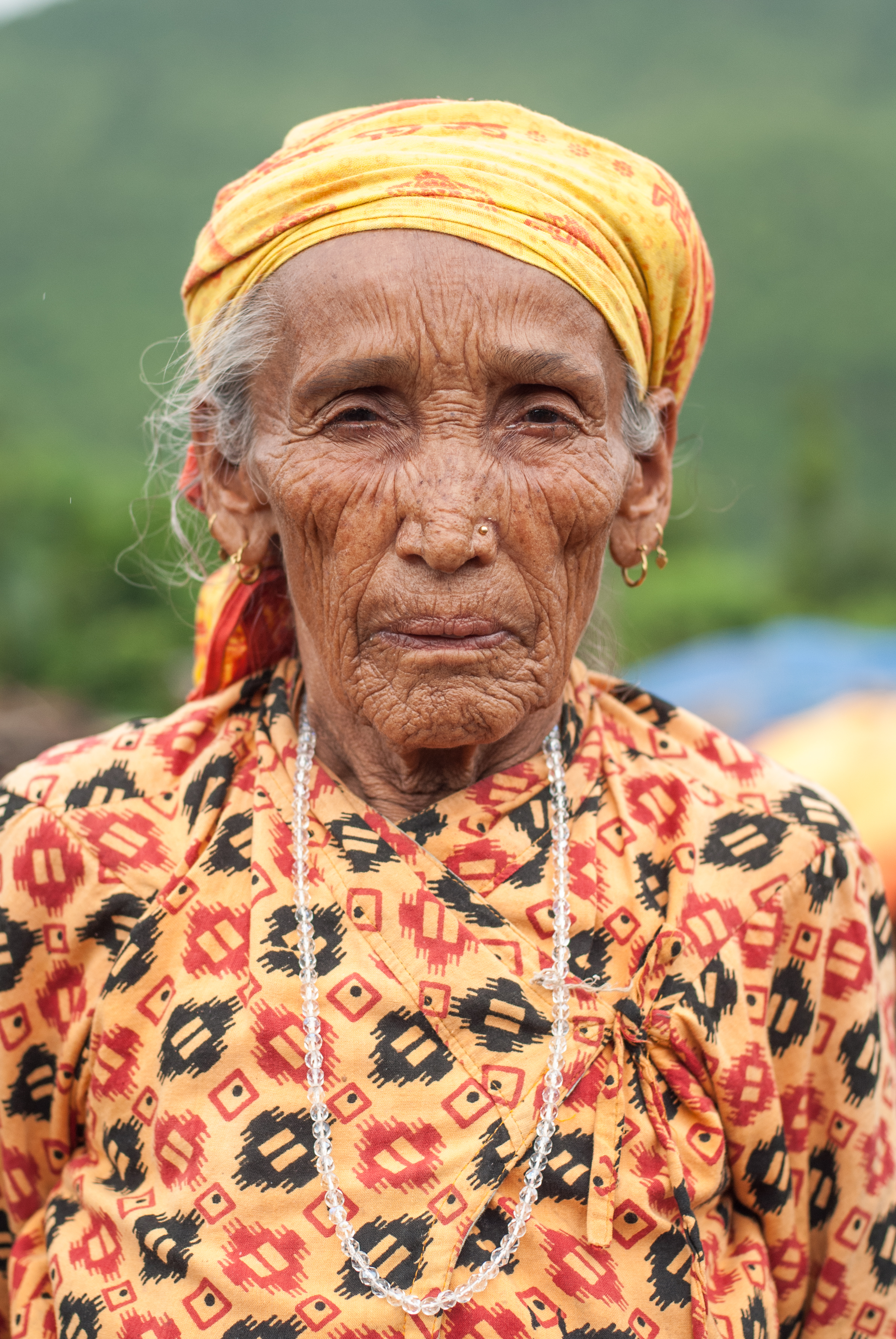 Mishri Nepal, 74, whose house collapsed around her during the first earthquake