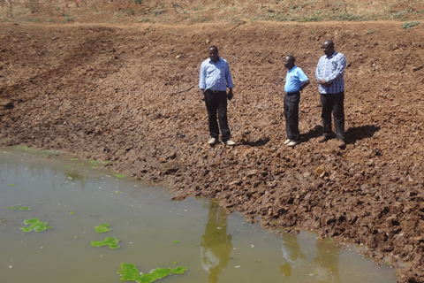 The main Musosya dam site is still being prepared - it's a big job for a big dam.