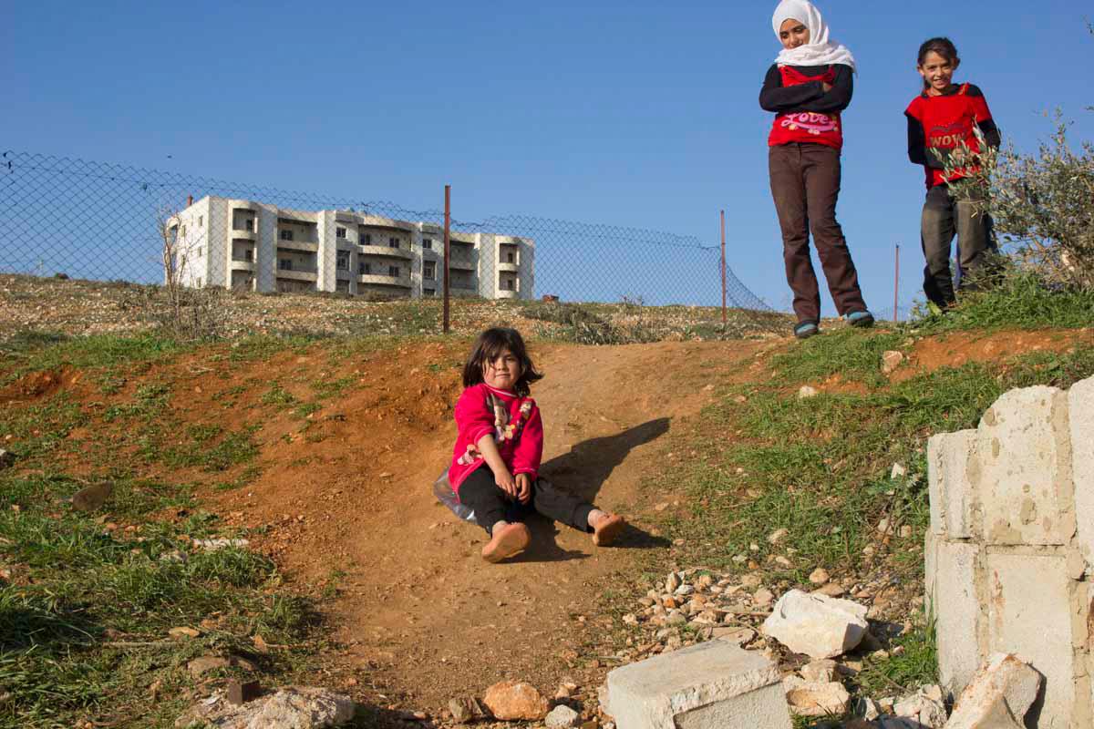 Eman's nieces in Lebanon