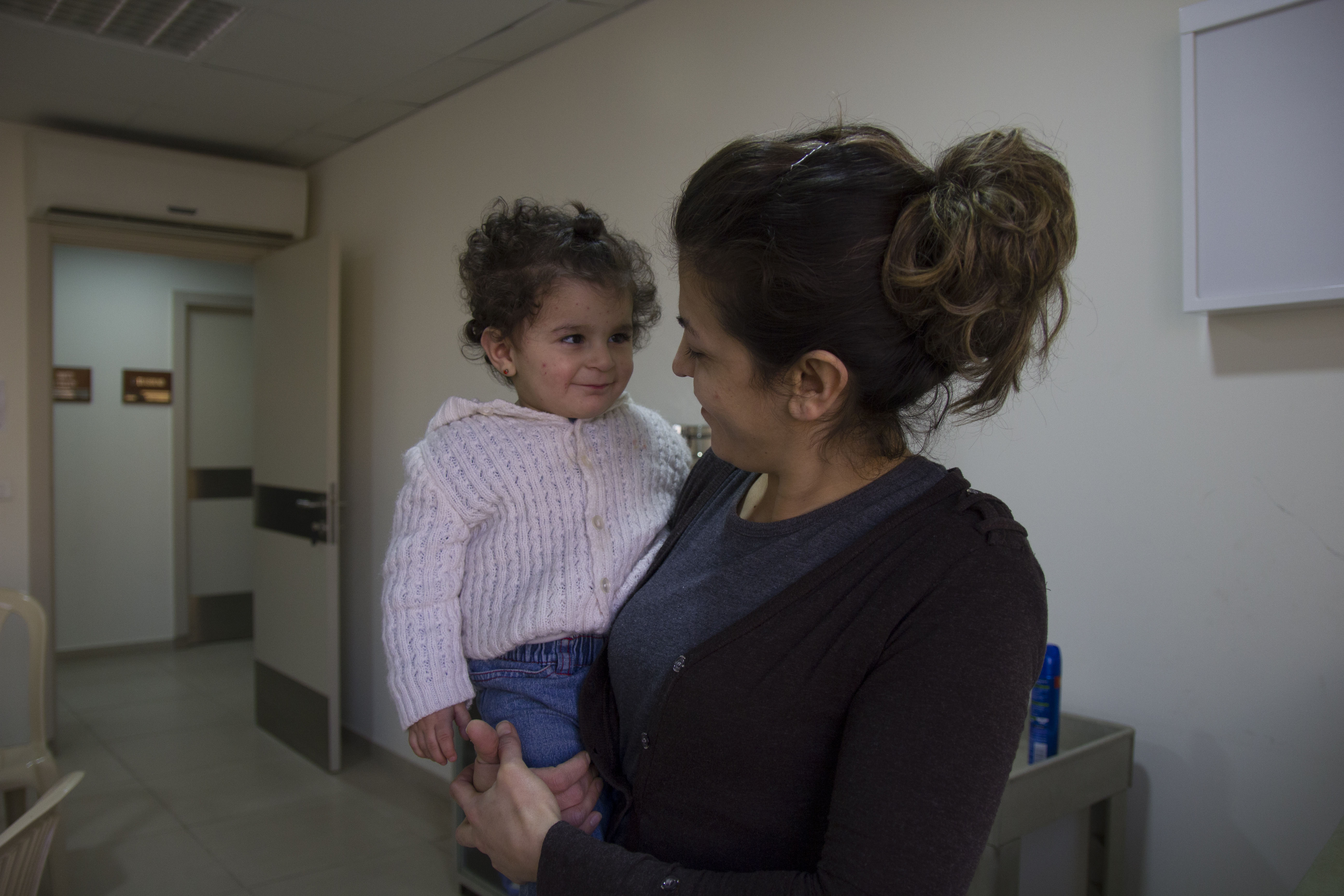 Hanigal and her daughter Helena, supported by CAFOD and Caritas