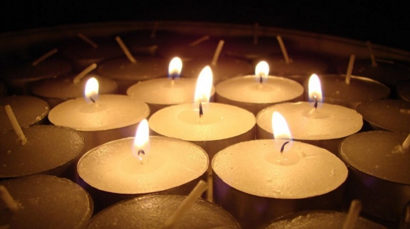 Group of lit candles