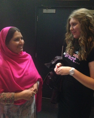 Malala's mother and Katherine