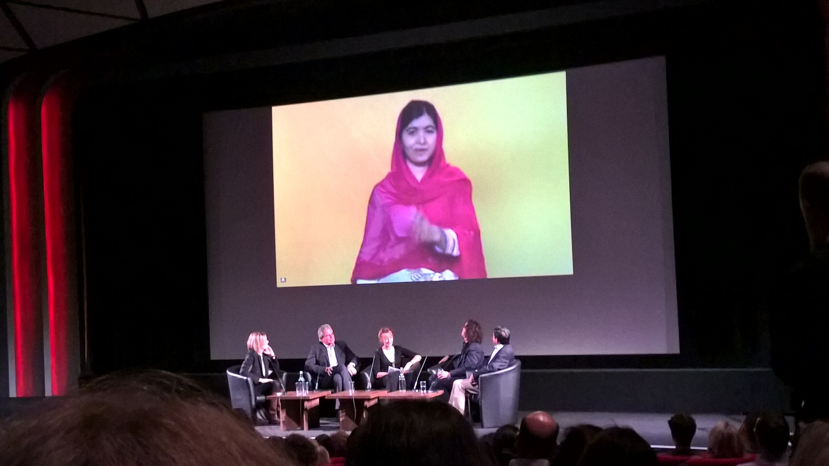 Malala Q&A session over skype