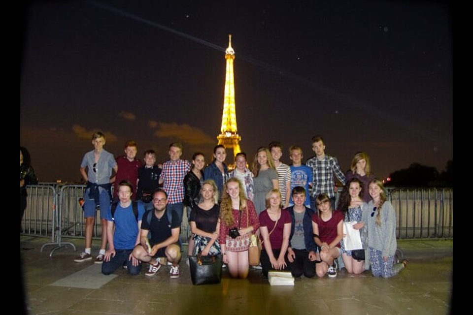 St Roberts students on their enrichment visit to Europe