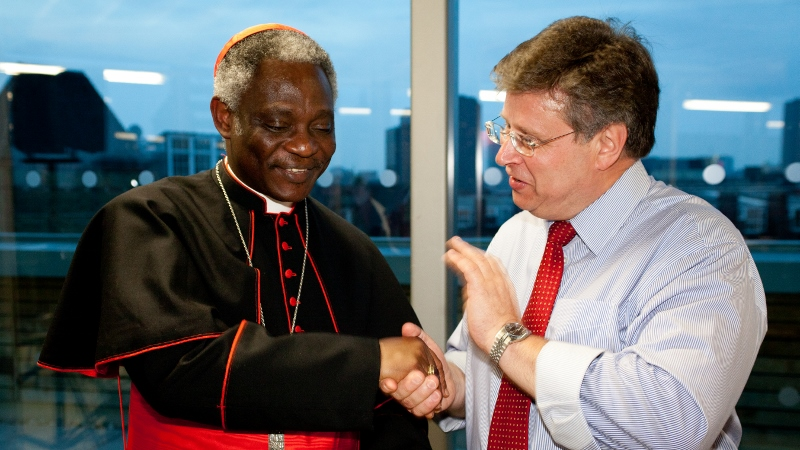 Cardinal Peter Turkson meets CAFOD's Director Chris Bain