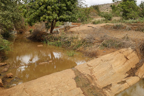 Our fifth sand dam is complete!