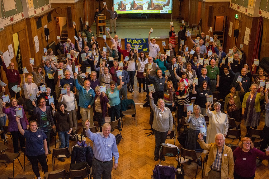 CAFOD supporters celebrating Laudato Si'