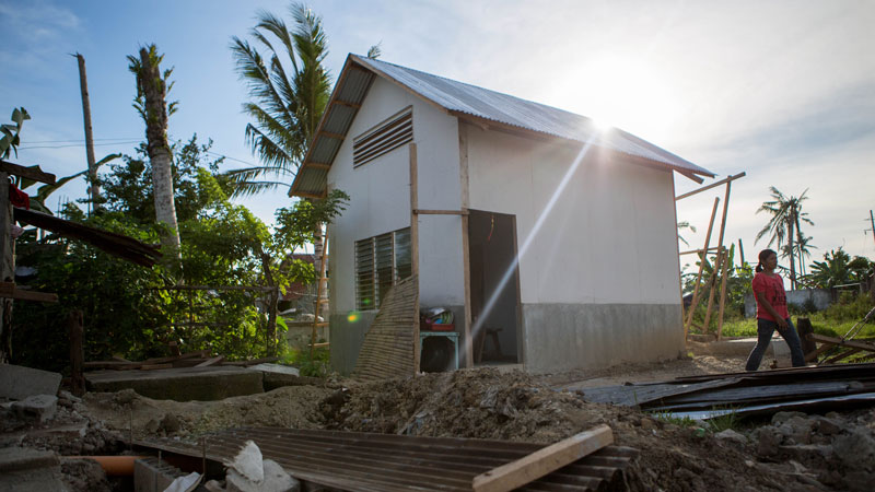 A new home under construction in the Philippines