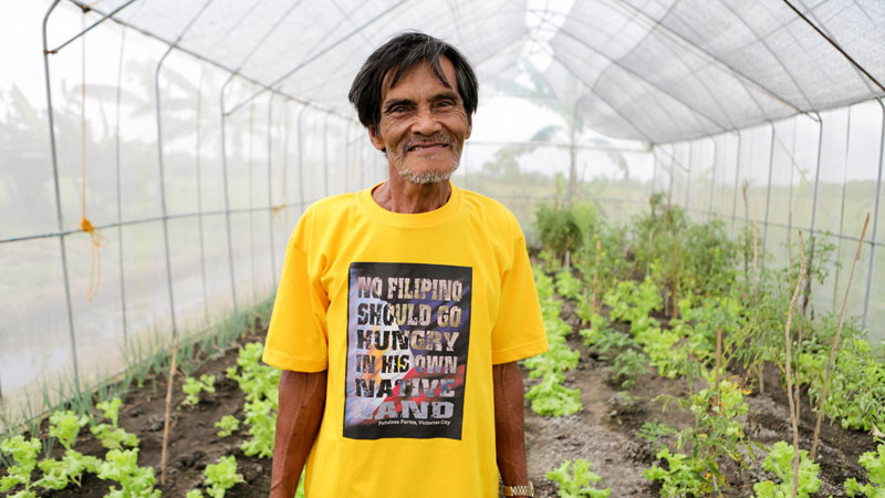 """Rudolfo: """"My message to world leaders is: listen to our call for survival, and salvage what is left of the environment."""""""