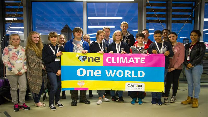 CAFOD Young Climate Bloggers visit Romero House to celebrate their achievements.