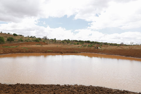 There is water in the Musosya dam reservoir now, and work continues on it.