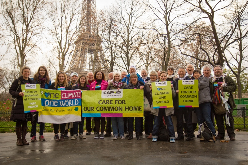 CAFOD campaigners at Paris climate talks