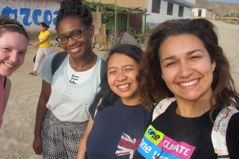 CAFOD's Step into the Gap volunteers in Peru