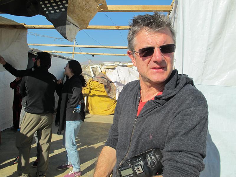 Dario Mitidieri in Bekaa Refugee Camp, Lebanon