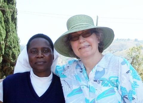 Julie Cox and Sr Annette