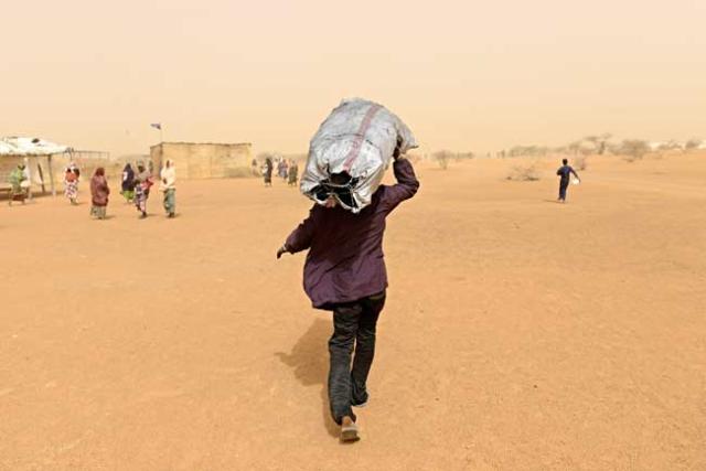 A Malian refugee