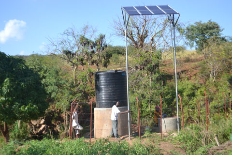 We are installing solar powered pumps at our wells