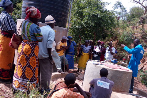 The community are being trained on maintenance of the wells.