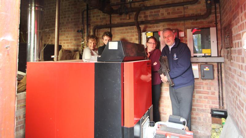 CAFOD St Thomas More energy audit boiler room