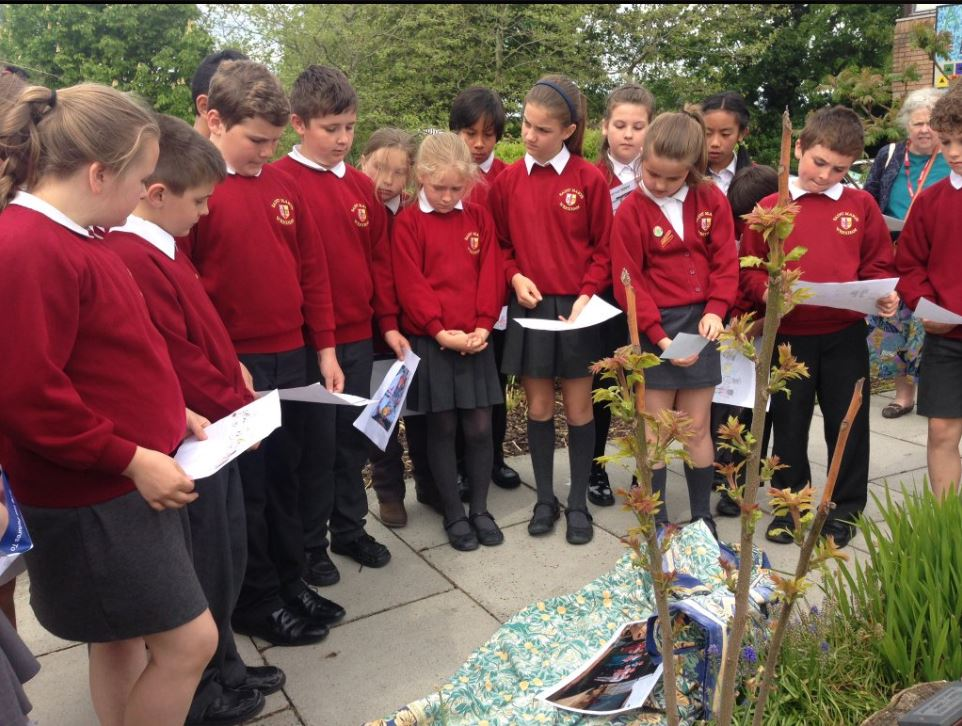 Year 6 Children at St Mary's RC Primary in Wrexham participate in the CAFOD Lampedusa Cross Pilgrimage as part of the Year of Mercy