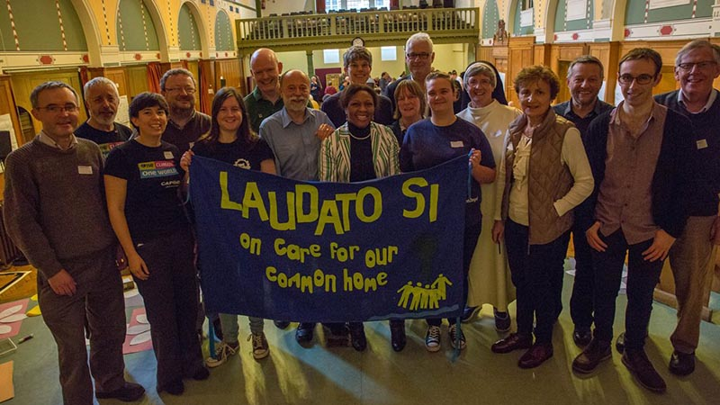 A group from the CAFOD delegation to Paris for the UN climate change talks
