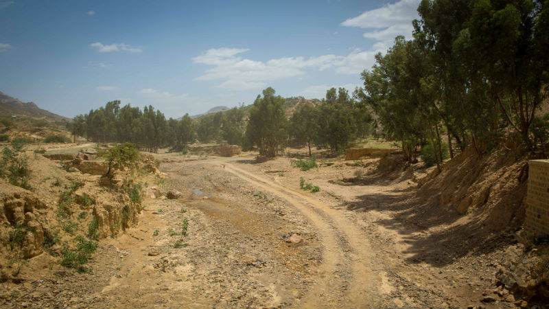 Ethiopia Food Crisis - Dry River bed