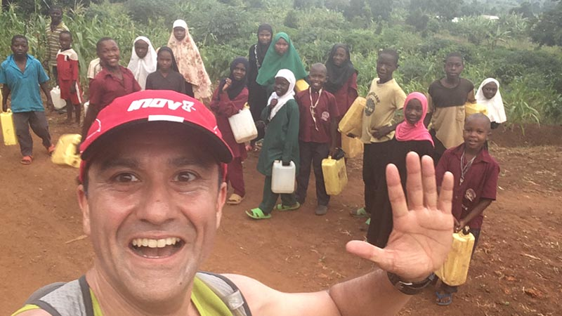 CAFOD Volunteer Justin Rowntree during the Ugandan Marathon
