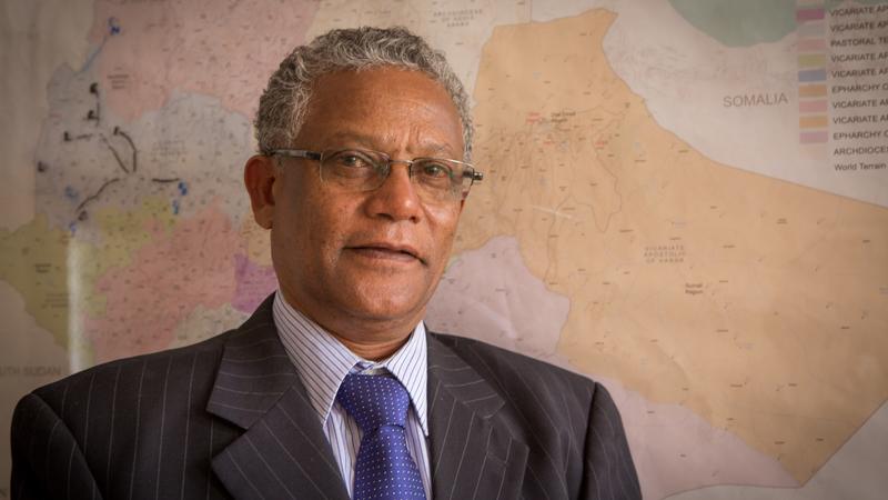 CAFOD partner Ethiopian Catholic Secretariat's Humanitarian Programme Coordinator, Shiferaw Mamo