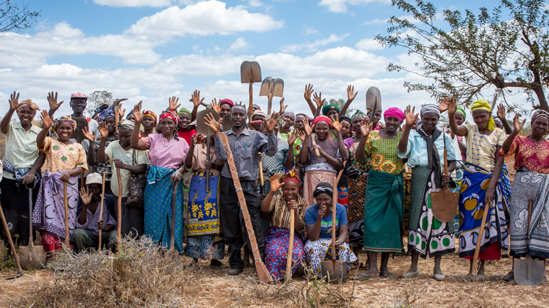 A group from Hands On Kitui waving