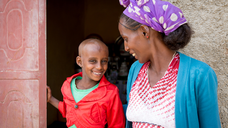 CAFOD Ethiopia Food Crisis - Rahel and her son
