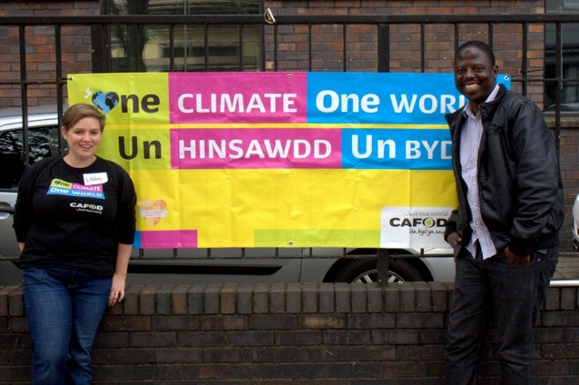 Takura and Libby had a message for CAFOD supporters around England and Wales