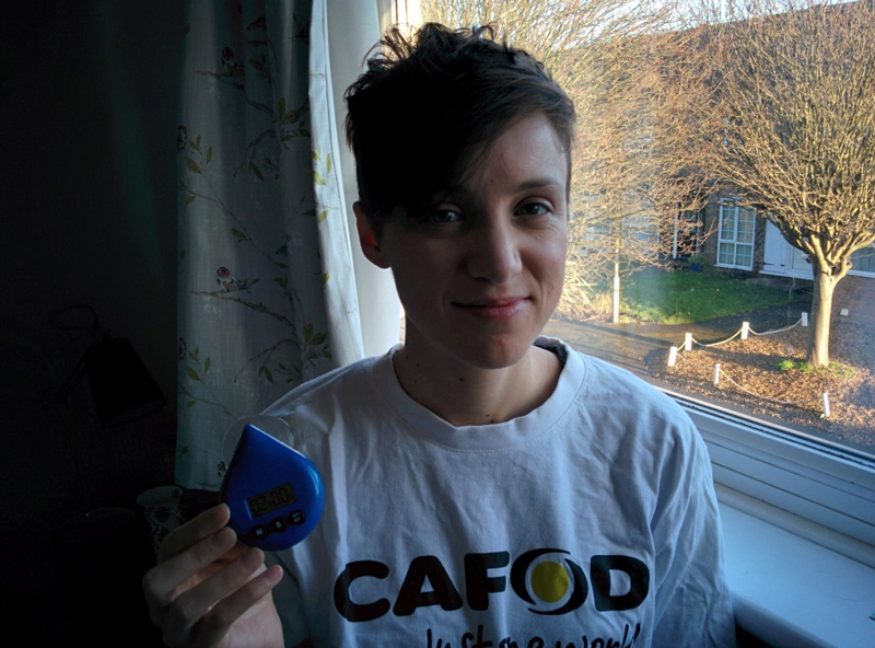 CAFOD Sarah 2 minute shower Lent challenge