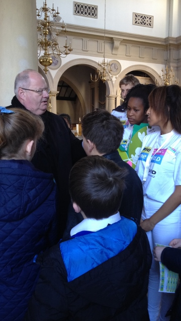Sir Eric Pickles MP spoke to CAFOD young leaders at Brentwood Cathedral