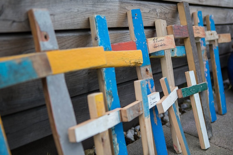 Lampedusa crosses made by Francisco Tuccio