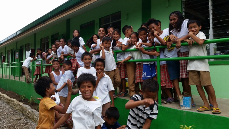 One of the new schools re-built after Typhoon Haiyan by CAFOD's partner in Bantayan