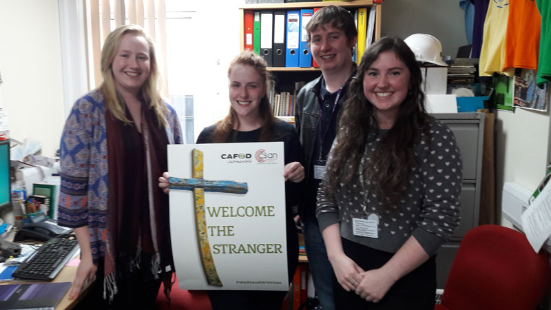 CAFOD gap year volunteer Charlotte has been taking action for refugees in the Year of Mercy
