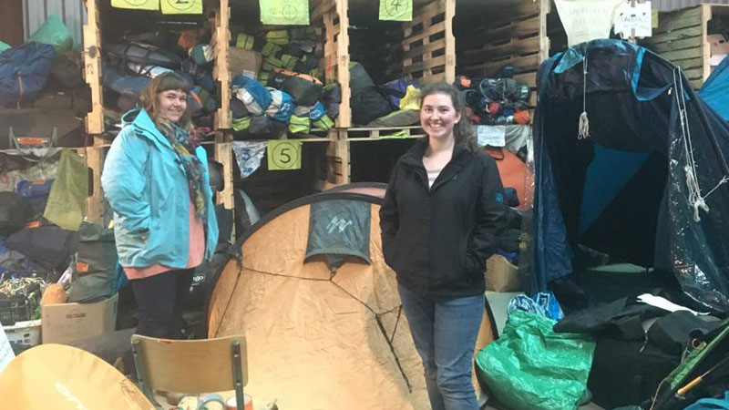 CAFOD volunteer Charlotte has been taking action to support volunteers and visited Calais camps to help out with food and clothing distribution