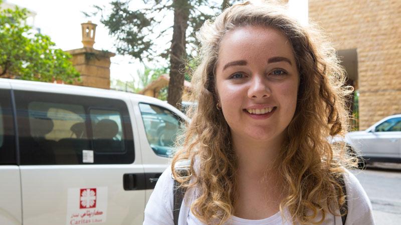 CAFOD volunteer Leah Fox