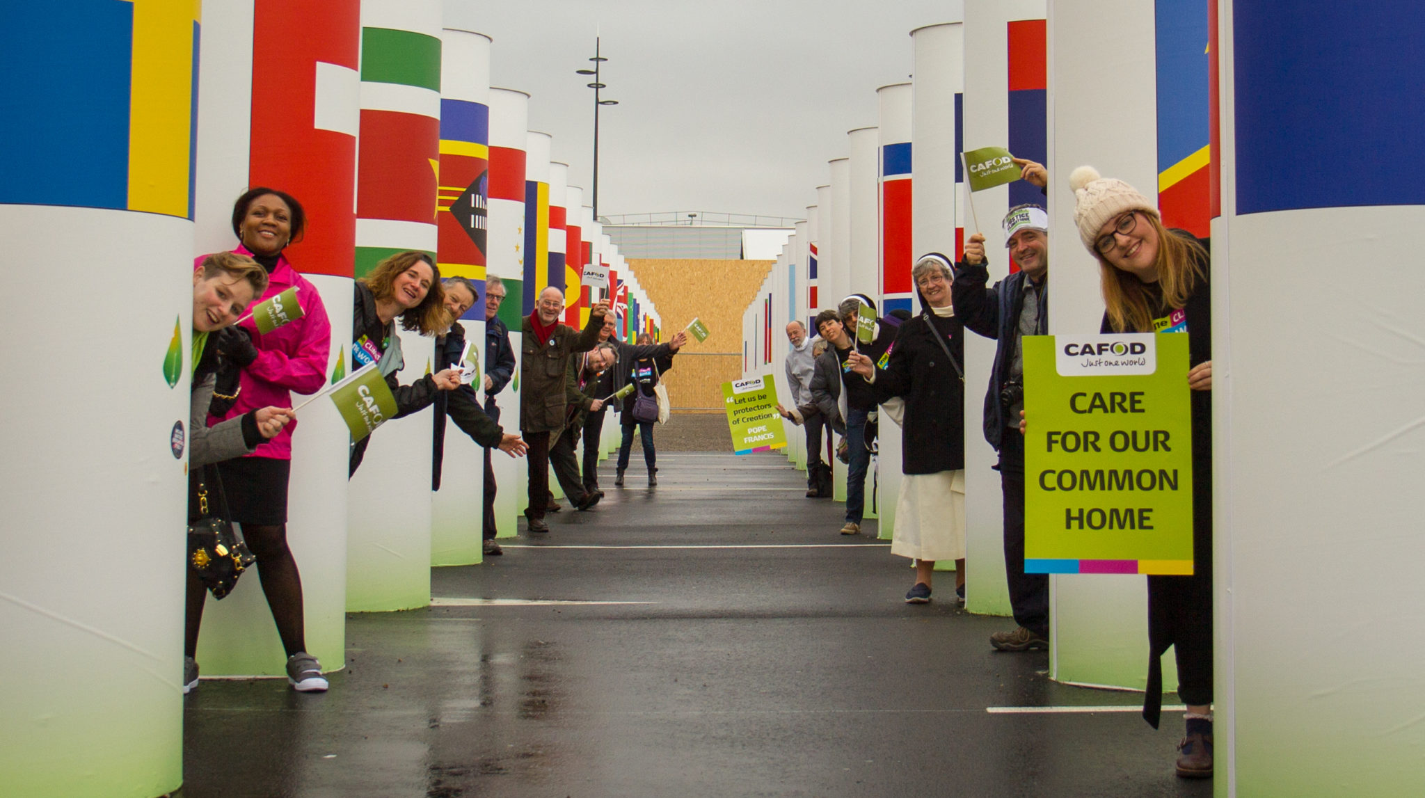CAFOD supporters at the Paris climate talks