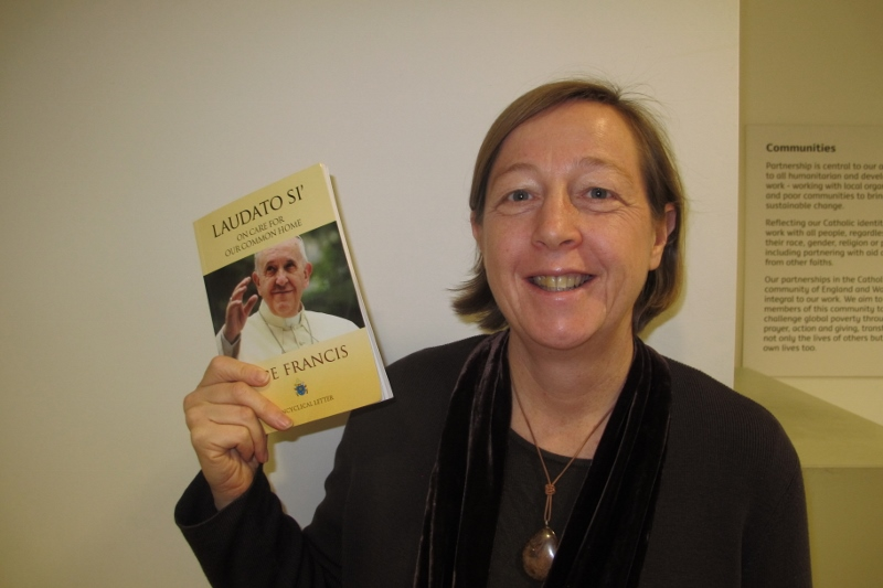 Dr Susy Brouard with Laudato Si'
